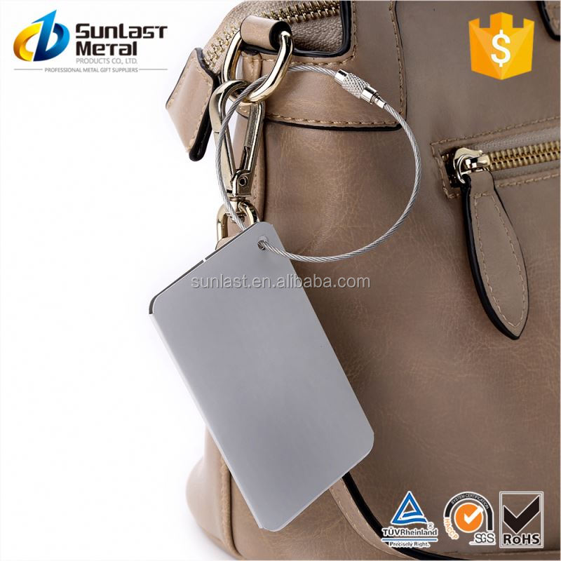 Manufacturer price custom design aluminum make your own luggage tags from manufacturer
