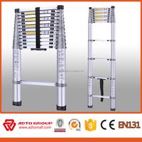 EN131 2016 ADTO Aluminum finger gap telescopic ladder
