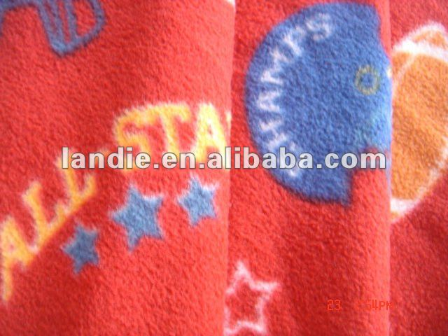 whole sale 100 polyester custom printed designer thickness polar fleece fabric for garments