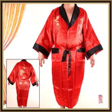 Good quality antique satin silk kimono robe