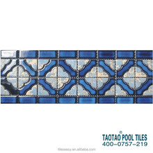 sample design non-slip swimming pool colorful mosaic wall border tile