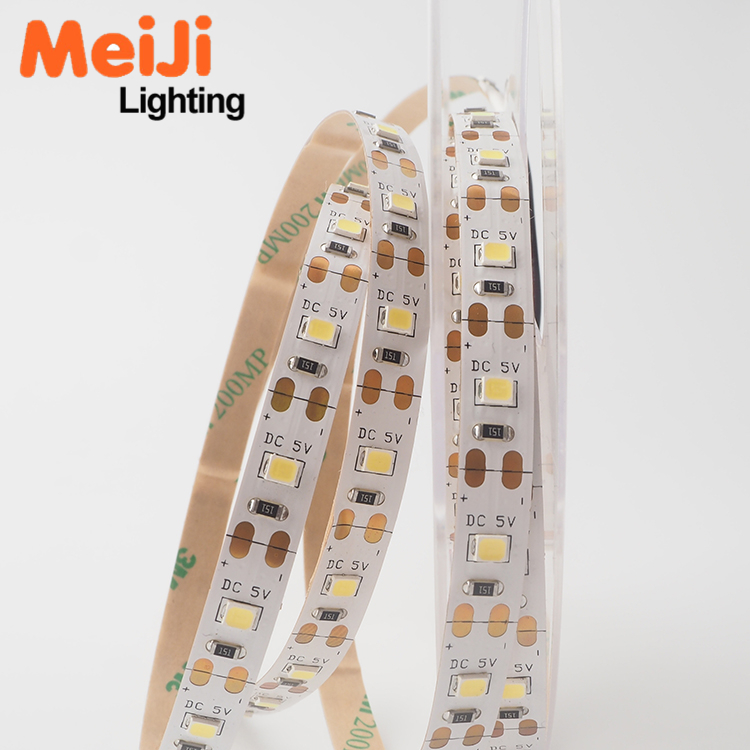 Wholesale Low Cost heat resistant 5m per Roll 8mm PCB 60 <strong>leds</strong>/m 5V 6V SMD 2835 Flexible <strong>LED</strong> Strip
