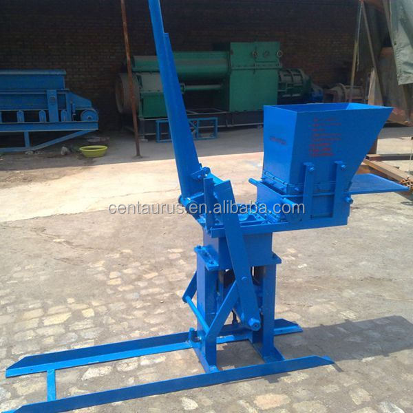 Compressed Earth Block Machine : Durable manual compressed earth block machine with lowest