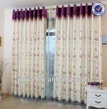M3246 british style curtain ready made embroidery curtain hotel curtain