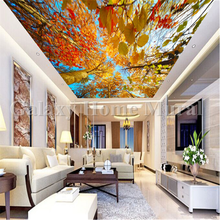 Natural ceiling home decoration PVC wallpaper