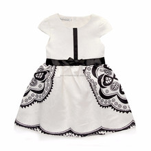 baby girl dress hot sale bow sleeveless party girl princess dressed
