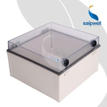 Factory Custom Saipwell High Quality PC Outdoor Square Electronic Device Cabinet Junction Box 300*300*180MM