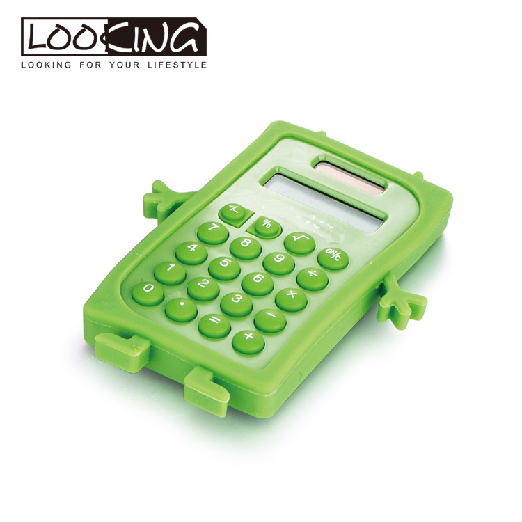 Small novelty silicone smart mini custom electronic pocket calculator