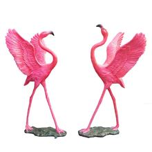 Flamingo sculpture life size garden flamingo statue