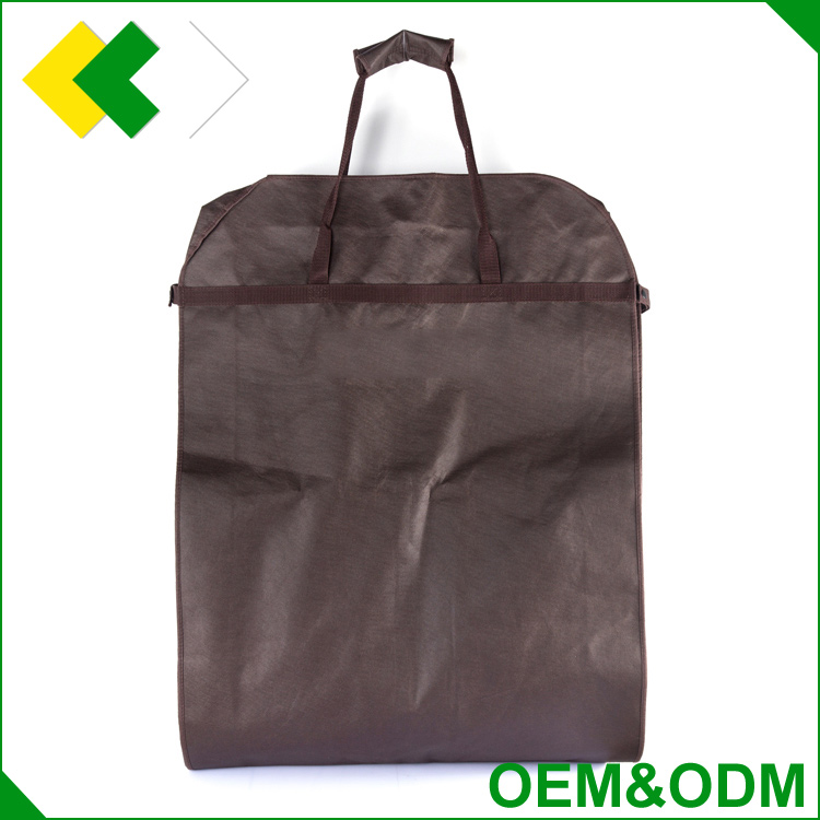 wholesale home dress cloths nonwoven garment bag dustproof storage suits cover non woven foldable plastic garment bag