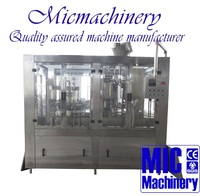 MIC-12-12-1 Top quality professional factory produce glass bottle twist off Cap juice filling machine with CE