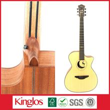 Wholesale Artistic Carving Colour Solid Wood Acoustic Guitar Made By Chinese Guitar luthier,for Guitar enthusiast (S40U-006-044)