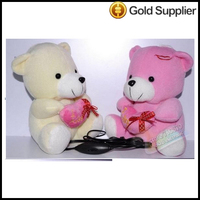 Hot KS Love Bear Shape Animal Doll Speaker Box Portable Mini Speaker For MP3/MP4ipod