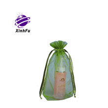 Organza jewelry pouch with logo Ribbon drawstring bag