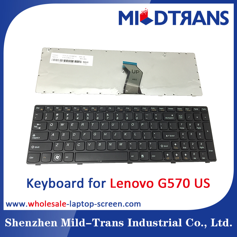For Lenovo G570 US laptop keyboard with all lauguage
