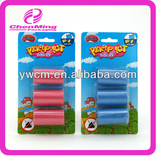 Yiwu custom garbage bag for pet dog products