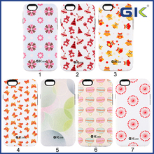[GGIT] Colorful Pattern Design 3D Sublimation Cell Phone Case For IPhone 6, TPU+PC 2 in 1 Combo Case