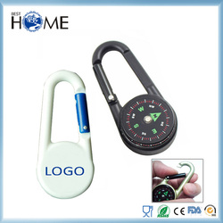 Custom Logo Print Metal Carabiner Compass for Outdoor Event