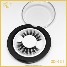 Wholesale false eyelashes 100% real mink fur 3d clear band mink false eyelashes extension