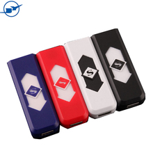 oem custom logo hot selling plastic windproof electric usb charged men cigarette smoking coil lighter for small cheap gifts