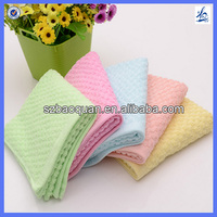 Custom Jacquard Solid Color Waffle Towel Cotton Fabric Hand Towel