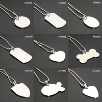 24 Inches 60CM Ball Chain High Polished Stainless Steel Necklace Silver Metal Blank Simple Variety of Designs Wholesale Dog Tag