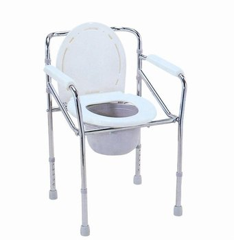 Caremax | steel Folding Commode | steel commode chair