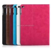 High quality eco-friendly leather smart wallet cover case for tablet ipad air 2
