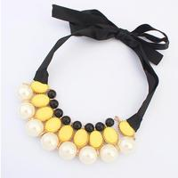 101540 imitation jewelry cheap chunky big pearl necklace