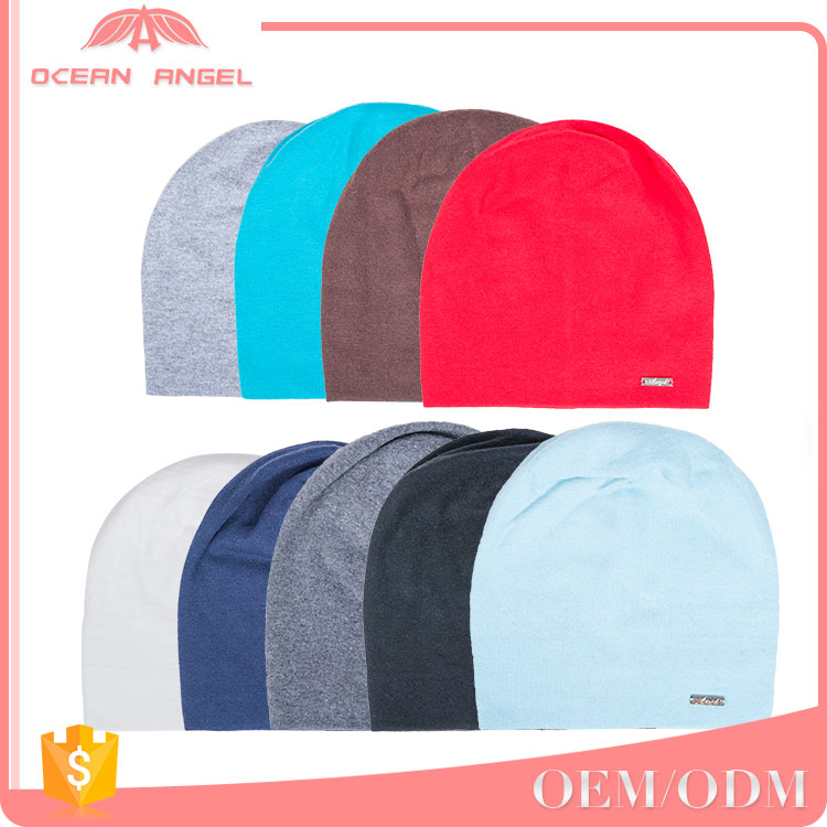 2017 free sample new style colourful light plain knitted custom unisex slouch beanies hats
