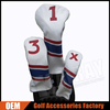 Factory Customized PU leather Golf club head cover set Golf Leather Driver headcover