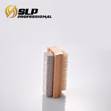 Hot sale Small wooden foot cleaning brush with pumice stone