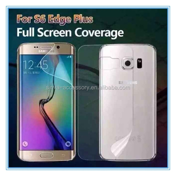 Top Quality Japan TPU Material 3D Full Cover Screen Protector For Samsung Galaxy S6 Edge Plus