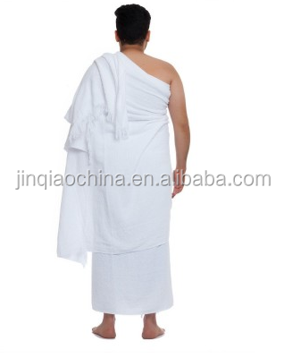 Piece Ihram Ehram Ahram White Hajj Towel Adult Size Cloth+Waist Belt Hajj Umrah
