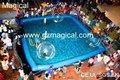 inflatable pool with walking ball