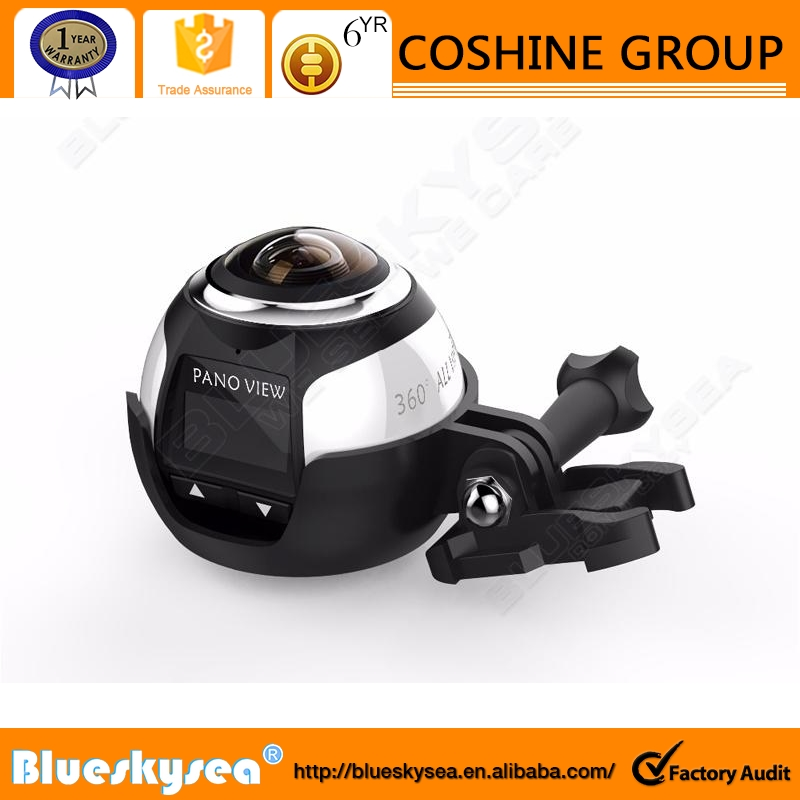 2016 newest 360 Mini WiFi Panoramic Video Camera 2448P 30fps 16MP Photo fisheye security camera 3D Sports VR Video