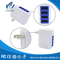 Customized color custom portable 4 USB wall charger for Samsung