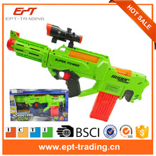 2017 New trend eco-friendly plastic electric airsoft gun with 20pcs eva bullet