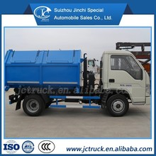 Foton 4x2 minitype arm-hook garbage truck pickup truck,hook lift/ hook arm garbage truck
