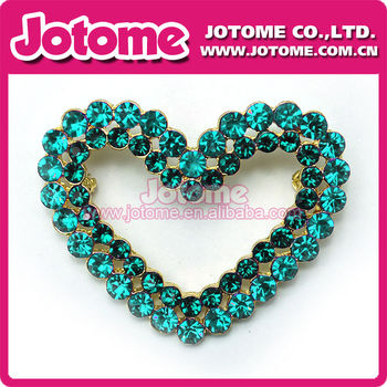 Colorful Heart and clean rhinestone buckles for wedding invitations, big heart buckles