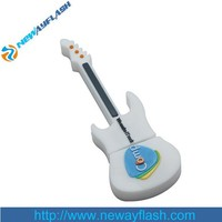 Computer accessories white guitar usb flash drive