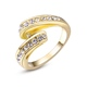 Custom Jewelry Fashion Design Yellow/Rose Gold Zircon Austrian Crystal Engagement Rings