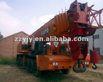 high efficiency 120t Japan KATO hydraulic truck crane