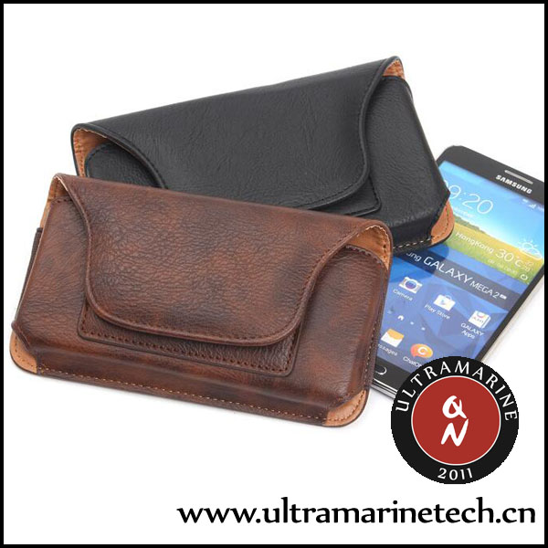 Ultramarine Universal <strong>Phone</strong> Retro Pockets Rhinoceros Pattern Card Slots Clip Leather Pouch 5.1 Inch For Samsung Galaxy <strong>Phone</strong>