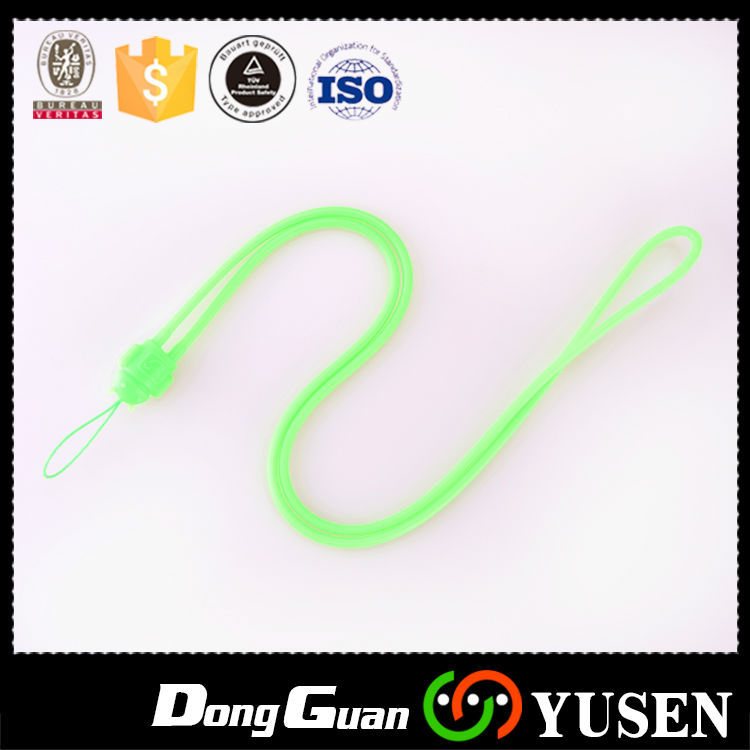 Solid Silicone Cell Phone Lanyard Strap for Free Sample