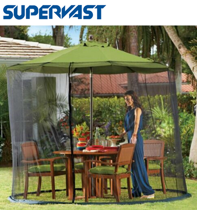 Hot Selling Products Canvas Parasol Umbrella With Mosquito Netting