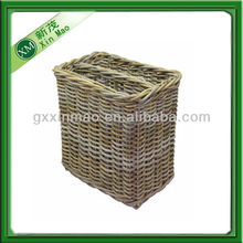 samll rattan basket with compartment