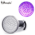 Wholesale 100 LED UV flashlight 5W High Power UV Black Light 395nm-400nm Purple uv Flashlight torch
