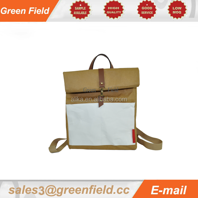 Washable craft paper school bag,high quality craft paper school bags