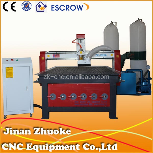2014 hot sale cnc router used for engraving and cutting wood,pvc ZK-1325 1300*2500mm